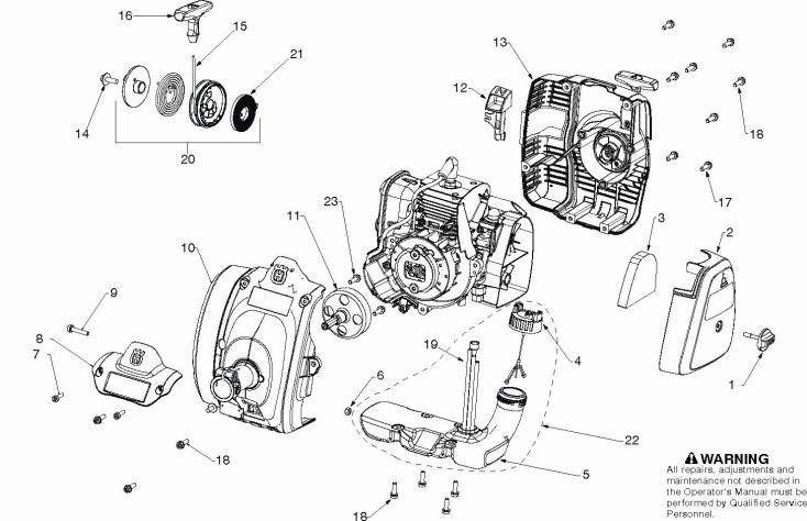 Husqvarna 129 LK (967146501) Trimmer HOUSING Spare Parts