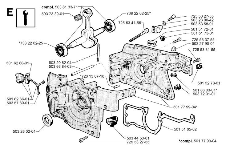 Jonsered 670 CHAMP (1999-02) Chainsaw CRANKCASE Spare