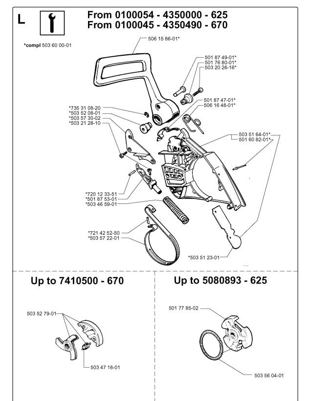 Jonsered 670 CHAMP (1999-02) Chainsaw SERVICE UPDATES