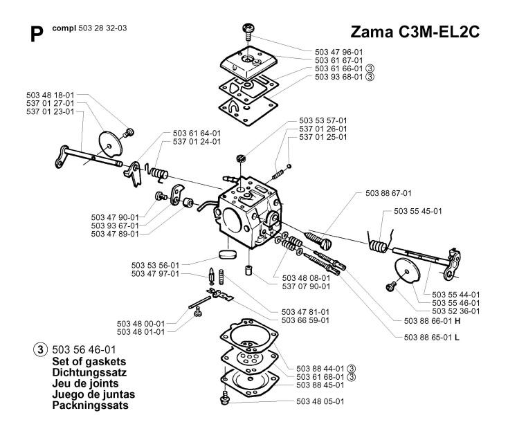 Jonsered CS2165 (2003-06) Chainsaw CARBURETOR DETAILS