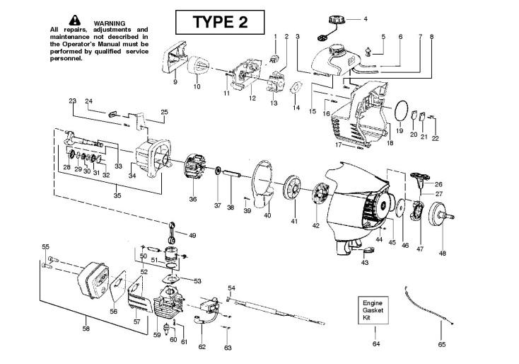 McCulloch PRO MAC 320 X GT (952715598) Trimmer ENGINE
