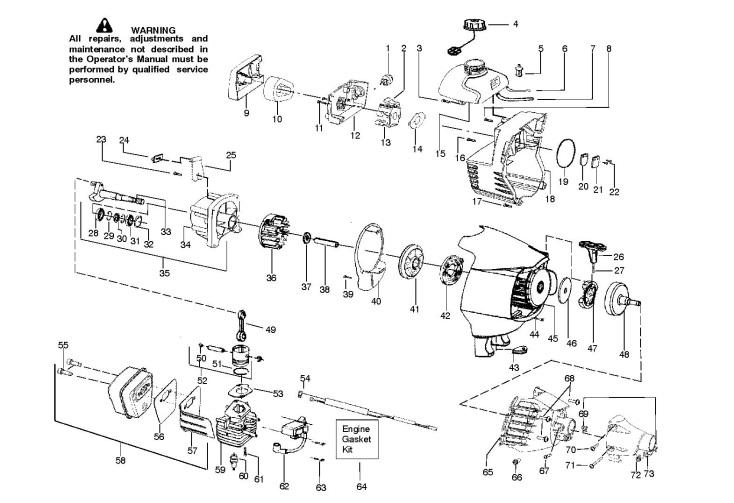 McCulloch MAC 320 B GT (952715686) Trimmer ENGINE Spare