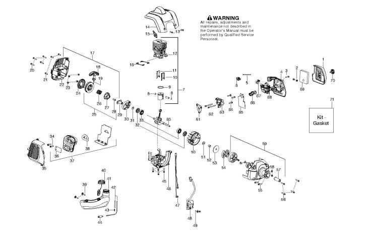 McCulloch MAC CABRIO 433 L (952715745) Trimmer ENGINE