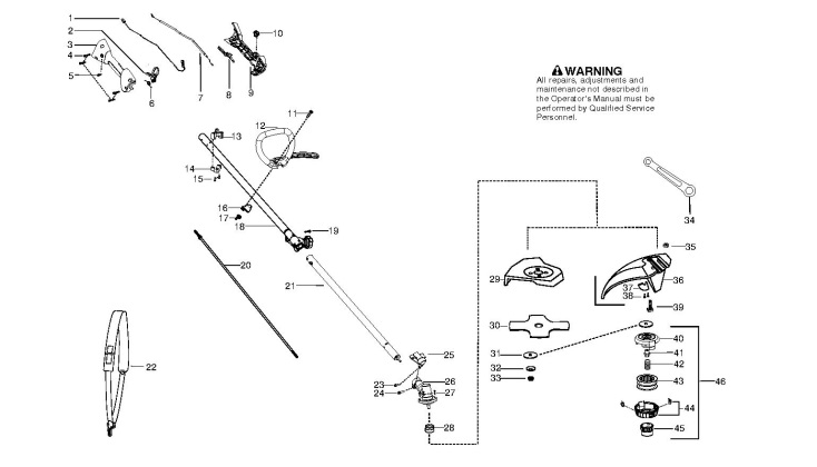 McCulloch MAC CABRIO 433 L (952715745) Trimmer SHAFT