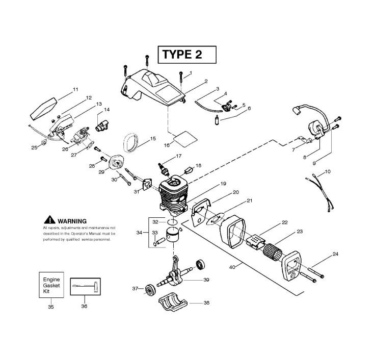 McCulloch MAC 2214 AV (952802076) Chainsaw ENGINE Spare