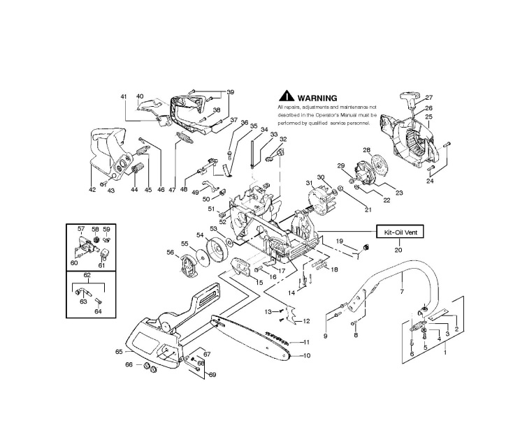 McCulloch Mac Cat 338 (952802051) Chainsaw CHASSIS