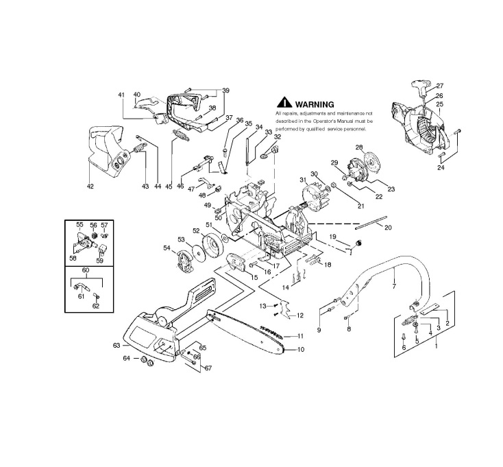 McCulloch MAC 320 (952802133) Chainsaw CHASSIS