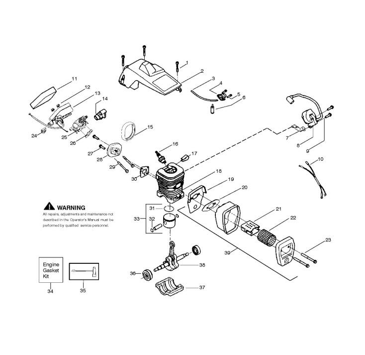 McCulloch MAC 4-10 XT (952802327) Chainsaw ENGINE Spare
