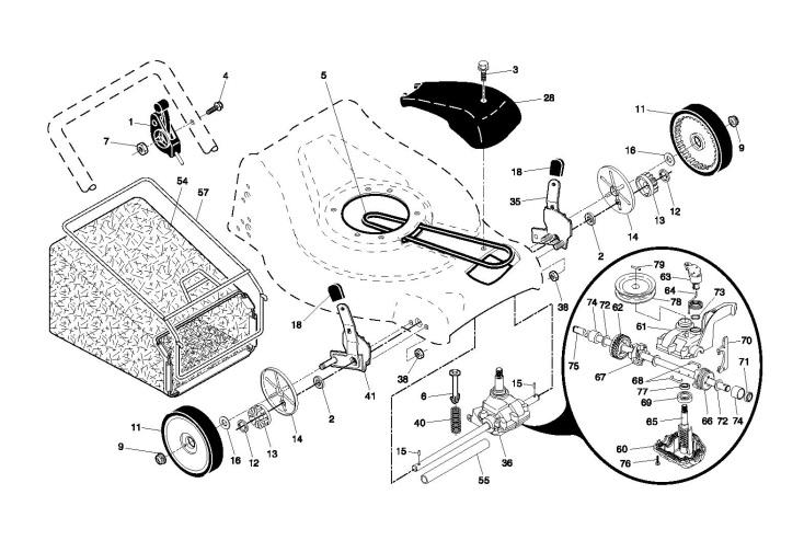 McCulloch EDITION 1 (96141014500) Lawnmower DRIVE Spare