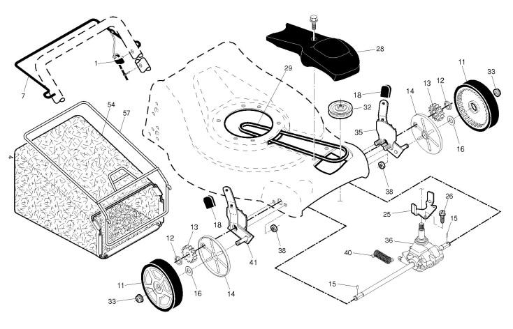 McCulloch M53-190WF (96141026802) Lawnmower DRIVE Spare