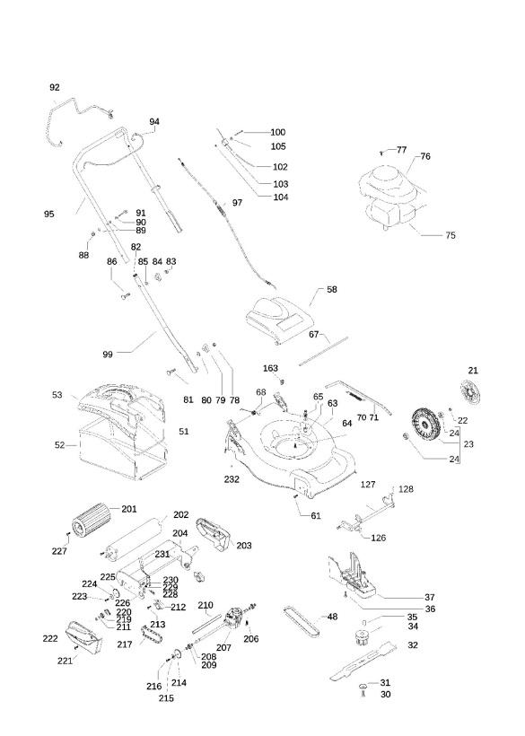 McCulloch M46 RSD TITANIUM (953878175) Lawnmower PRODUCT