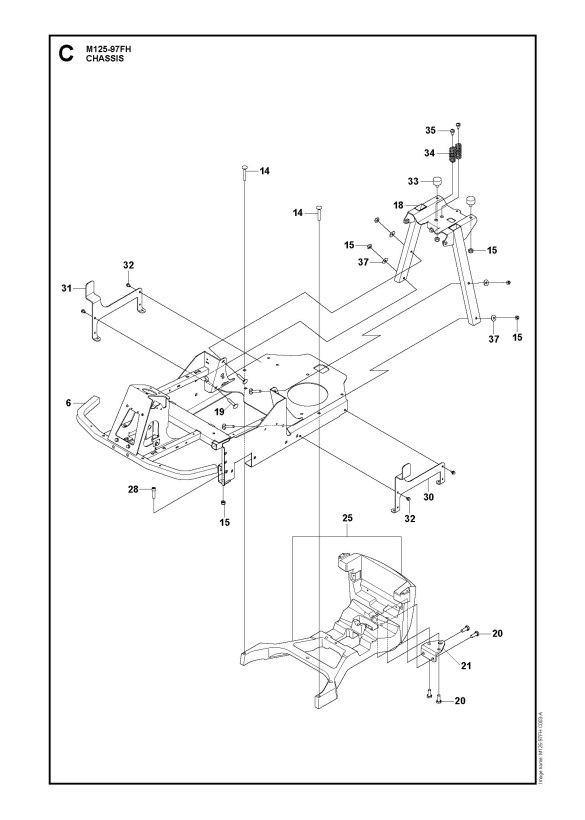 McCulloch M125-97FH (966725601) Ride On Mower CHASSIS