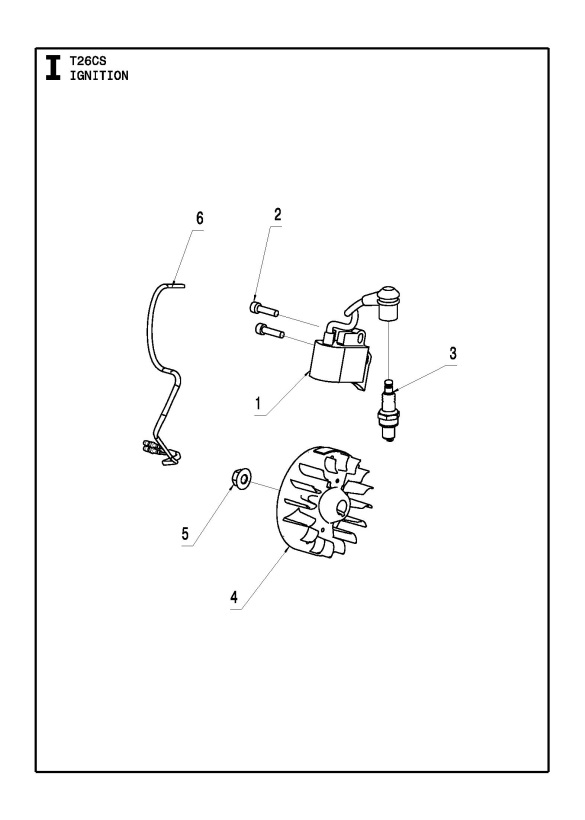 McCulloch T26 CS (967207701) Trimmer IGNITION SYSTEM Spare