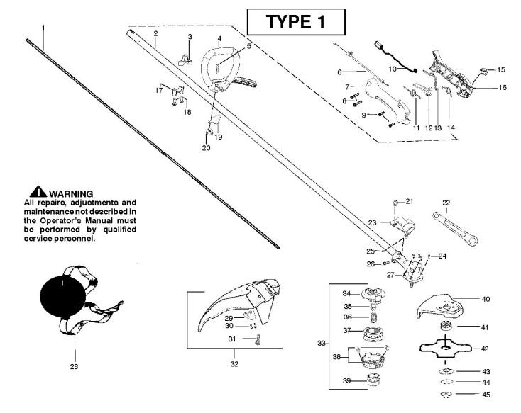 Partner B250 L GT (952715683) Trimmer SHAFT & HANDLE Spare
