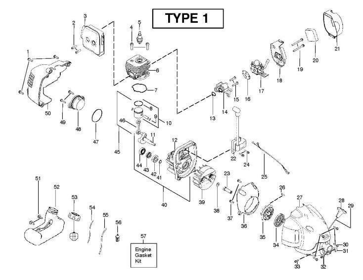 Partner SST250 SST250 (952715700) Trimmer ENGINE Spare
