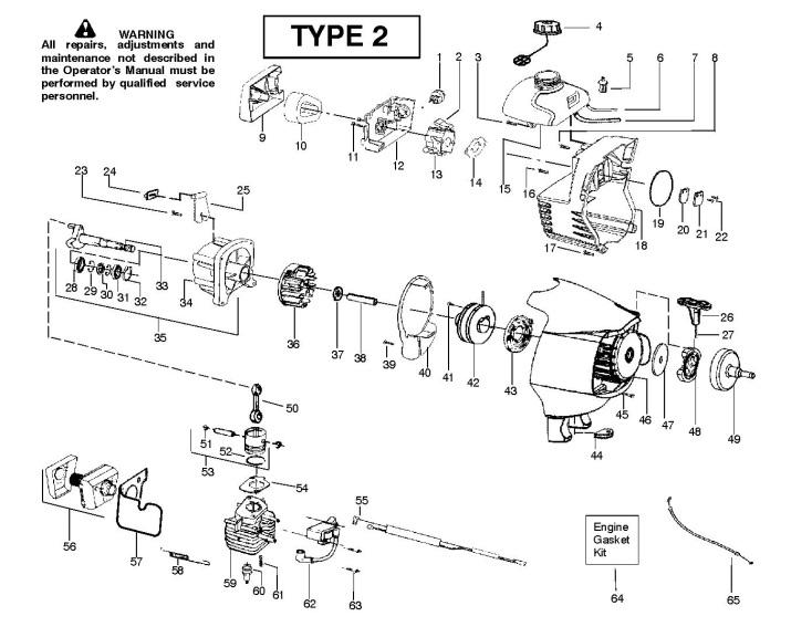 Partner T330 T330 (952715483) Trimmer ENGINE Spare Parts