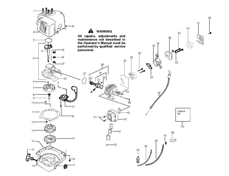 Partner HG 5616 (952715734) Hedge Trimmer ENGINE Spare