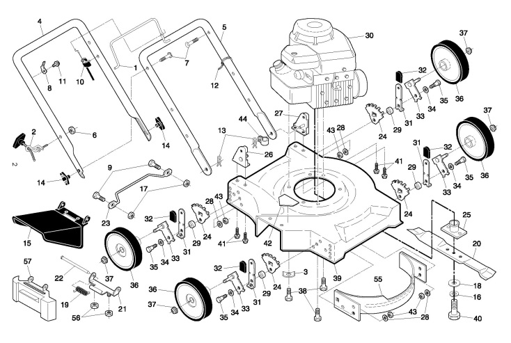 Partner P51-450SM (96111001405) Lawnmower PRODUCT COMPLETE