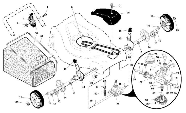 Partner P53-160DW (96141015303) Lawnmower DRIVE Spare