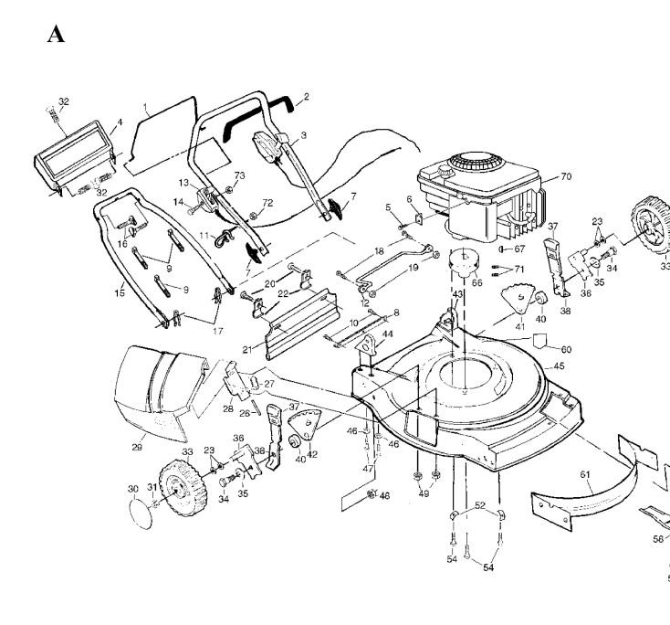 Husqvarna JET 55 S (1997-03) Lawnmower FRAME & ENGINE