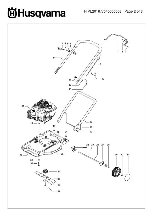 Husqvarna LB146 (96725770101) Lawnmower PRODUCT COMPLETE