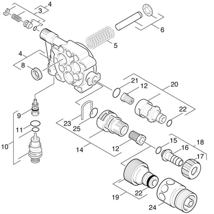 Karcher K310 EU (1.994-120.0) Pressure Washer Piston Spare
