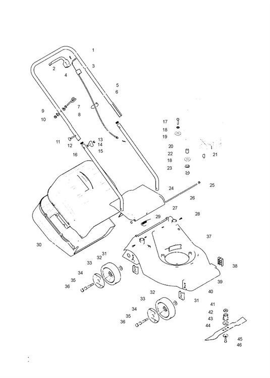 McCulloch M40-450CP (965969401) Lawnmower PRODUCT COMPLETE