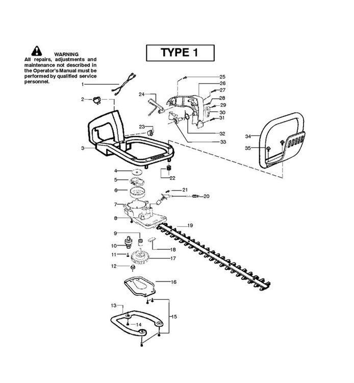 McCulloch T55 (952715450) Hedge Trimmer CLUTCH & OIL PUMP2