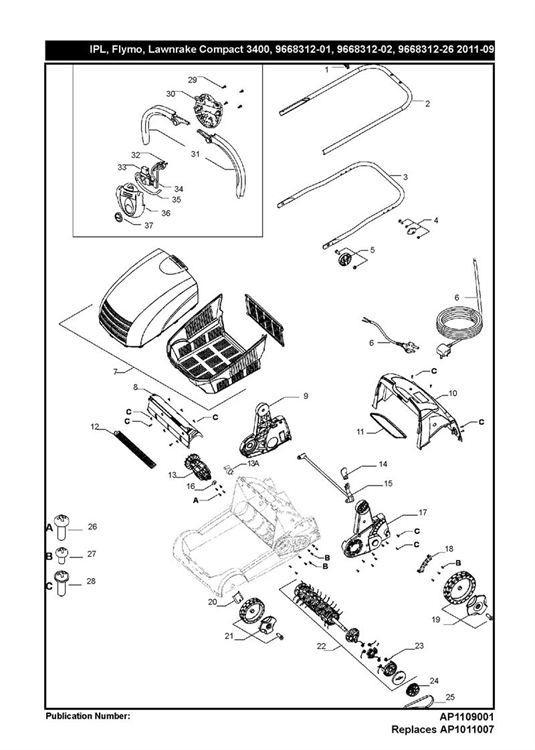 Flymo LAWNRAKE COMPACT 3400 (966831202) Lawnrake PRODUCT