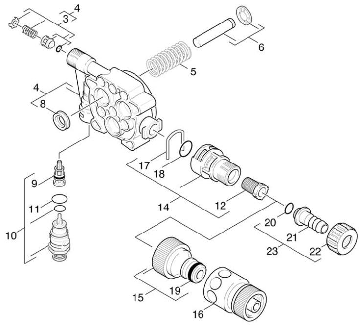 Karcher K330 M EUR (1.994-910.0) Pressure Washer Piston