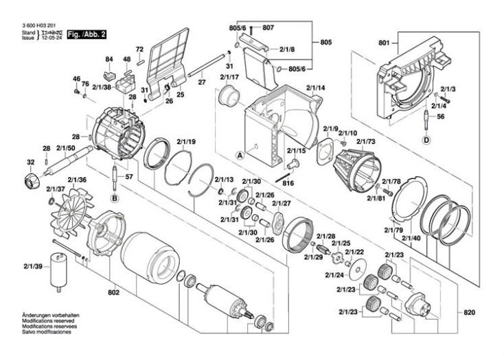Bosch AXT 25 TC (3600H03371) Chopper Diagram 2 Spare Parts