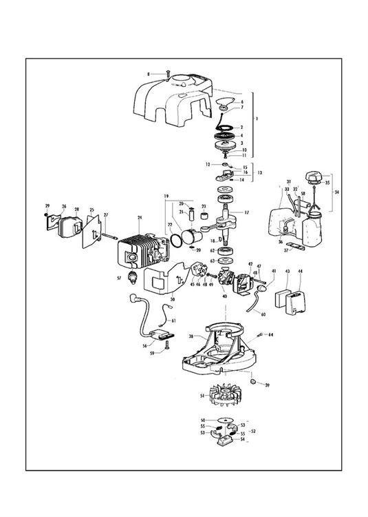 McCulloch TIVOLI 63, PREFIX 04 (953900400) Hedge Trimmer