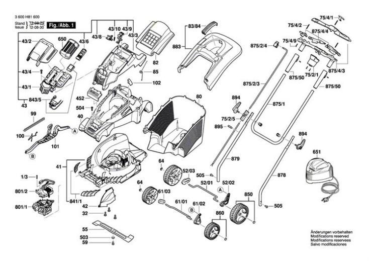 Bosch ROTAK 34 LI (ERGOFLEX) (3600H81600) Lawnmower