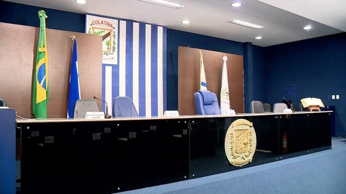 Câmara de Vereadores de Colatina, no Espírito Santo — Foto: Reprodução/ TV Gazeta