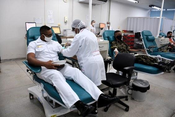 Militares realizam doação de sangue. Foto: Divulgação/Forças Armadas