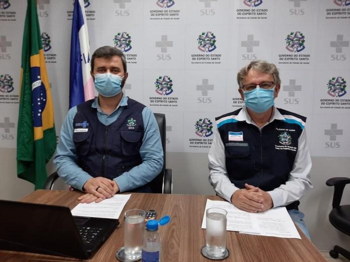 Nésio Fernandes e Luiz Carlos Reblin — Foto: Divulgação/ Sesa