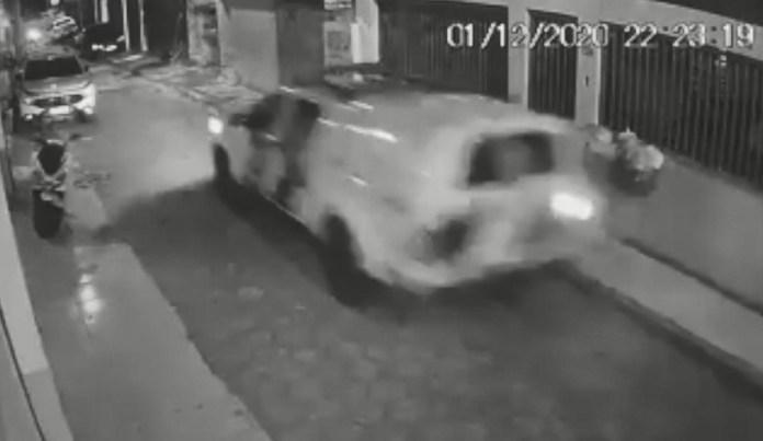 Câmera registrou perseguição em Vitória