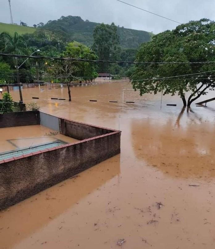 Chuvas em Ibitirama, ES, em fevereiro de 2021 — Foto: Reprodução/Redes Sociais