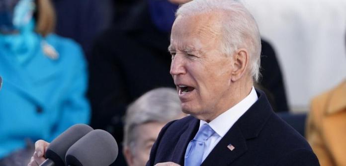 O presidente dos EUA, Joe Biden, fala durante sua posse como 46º presidente dos Estados Unidos na Frente Oeste do Capitólio dos EUA, em Washington, nesta quarta (20)