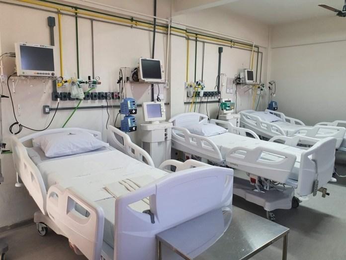 Leitos para pacientes com Covid-19 no ES — Foto: Hélio Filho/Governo do ES