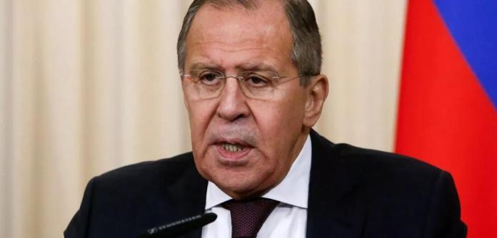 O ministro interino das Relações Exteriores da Rússia Sergei Lavrov.