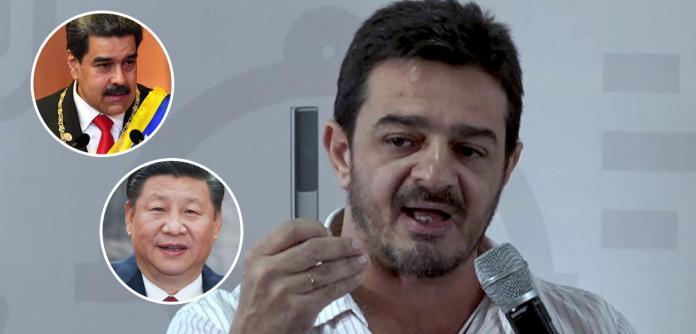 Nicolás Maduro, Xi Jinping e Elias Jabbour