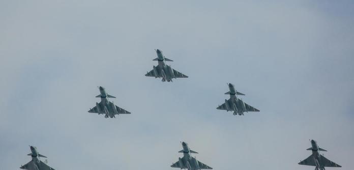 Aviões militares chineses