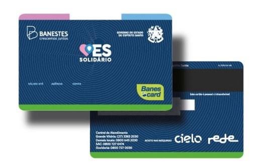 Cartão ES Solidário — Foto: Divulgação/Governo do ES