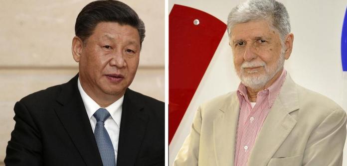Xi Jinping e Celso Amorim