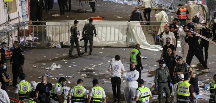 Vítimas que morreram durante celebrações em Israel