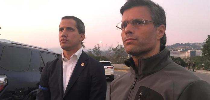 Juan Guaidó e Leopoldo López