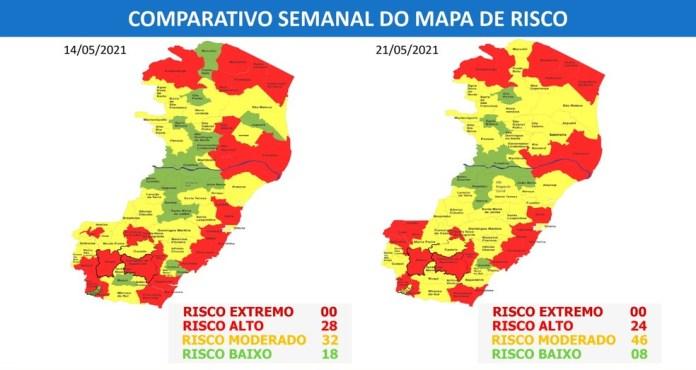 Atualização de Mapa de Risco do ES — Foto: Divulgação/ Governo do ES