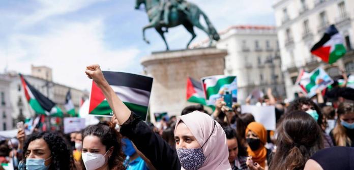 Londres, Paris, Berlim e Madri têm protestos a favor dos palestinos