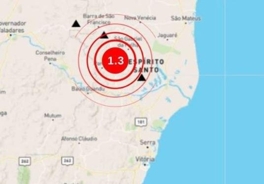 Tremor de terra é registrado em Águia Branca, no Noroeste do ES — Foto: Divulgação/ Observatório Sismológico